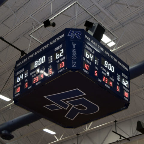 arena four sided scoreboard