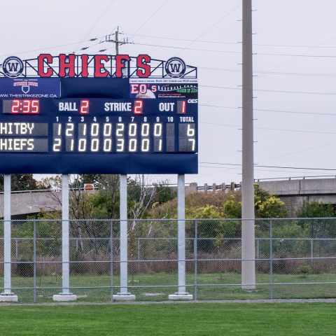 outdoor chiefs scoreboard