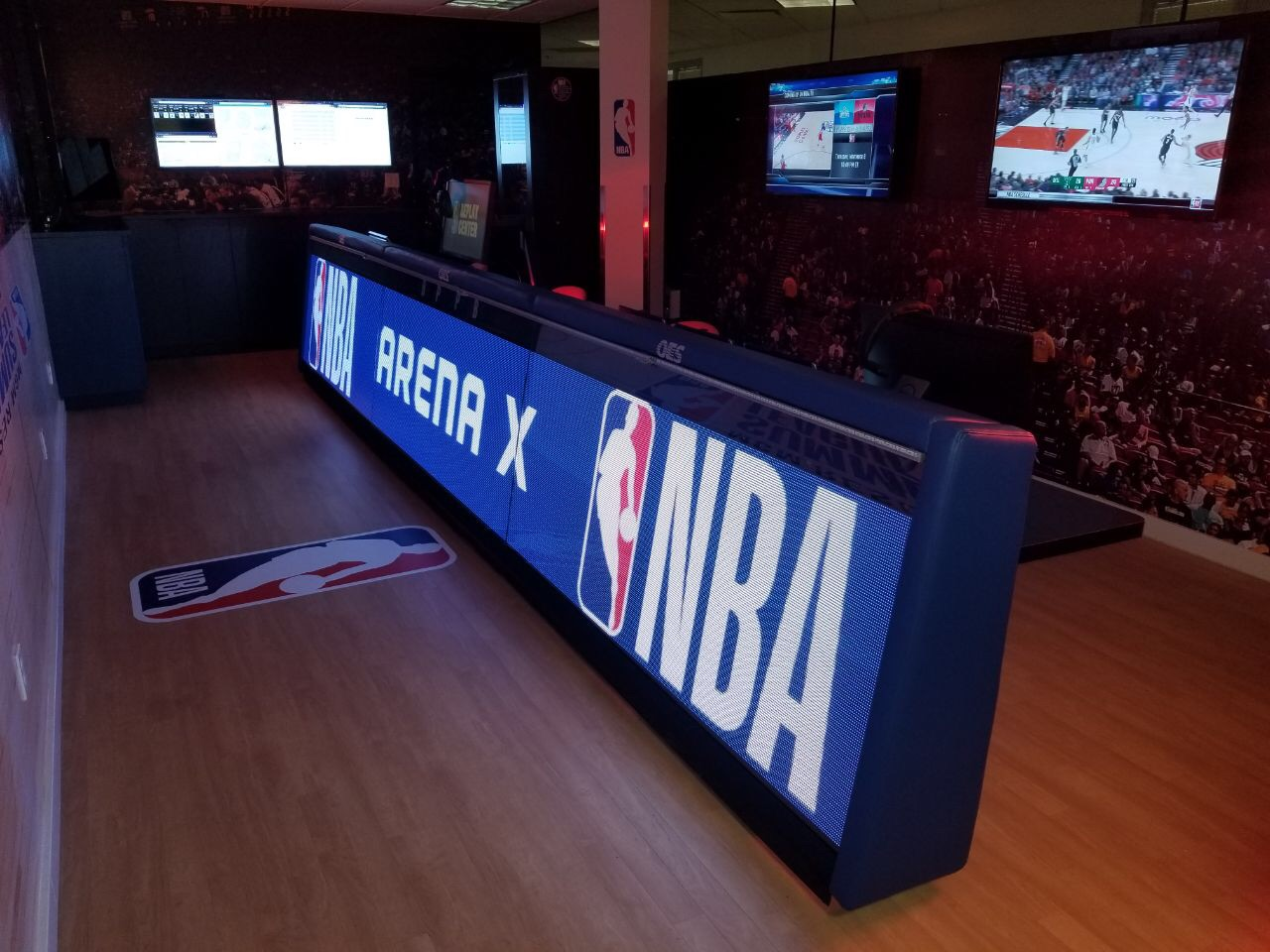 Arena X NBA digital sign