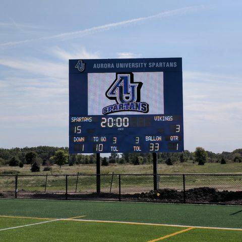 Aurora University scoreboard