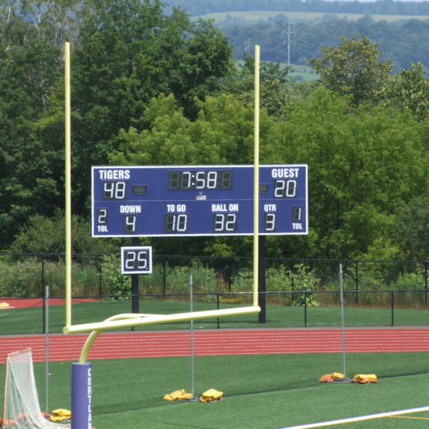 football scoreboard from a distance