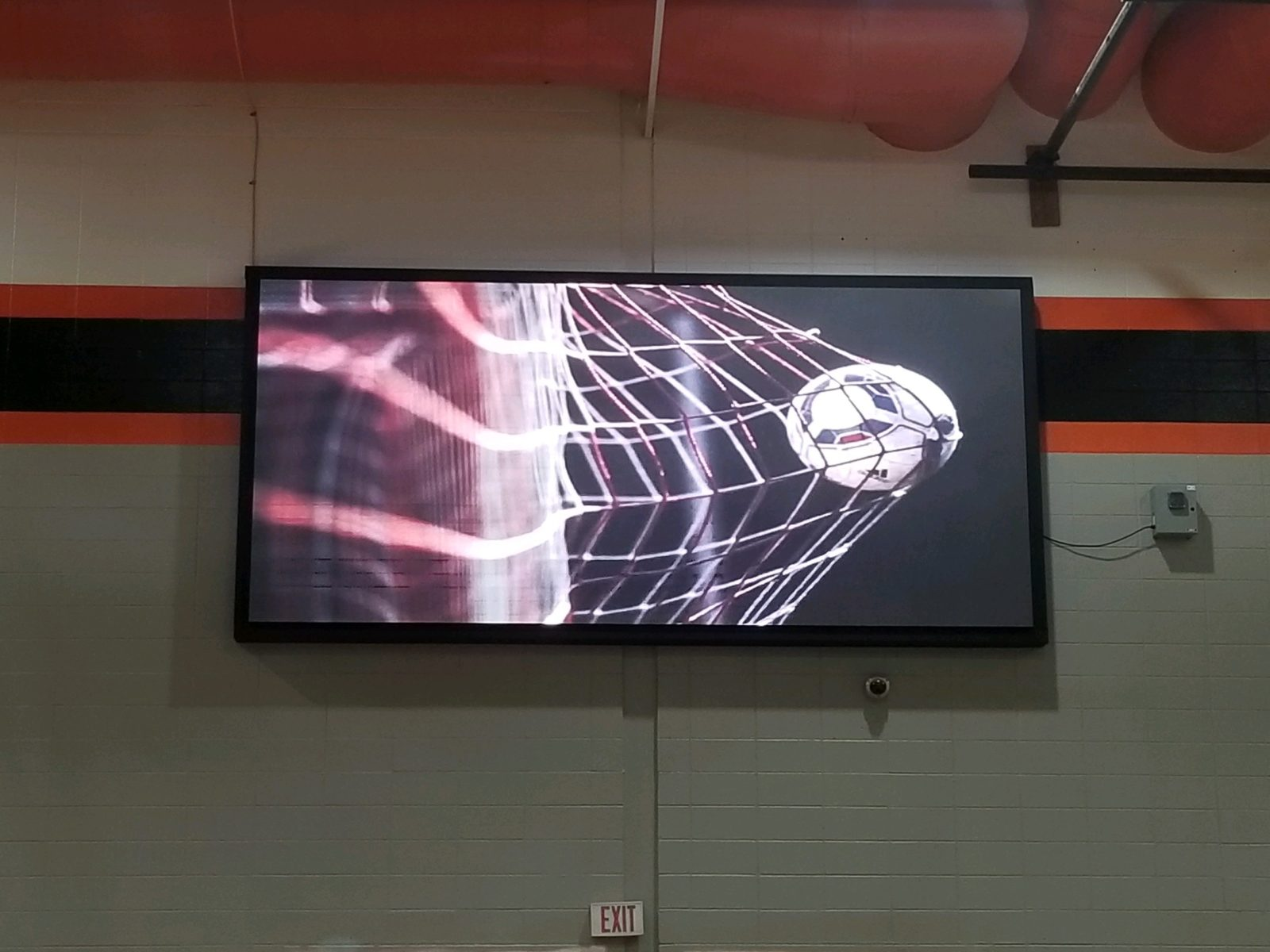 An Indoor LED scoreboard.