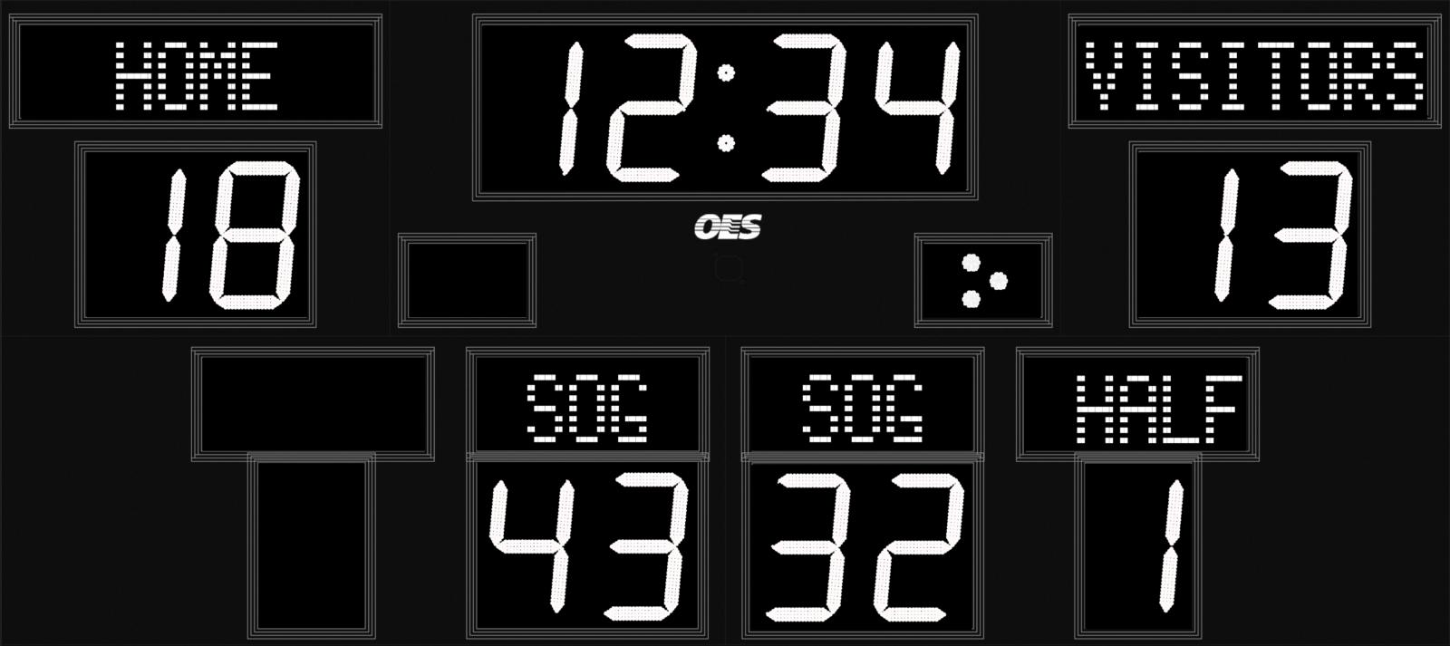 black and white scoreboard