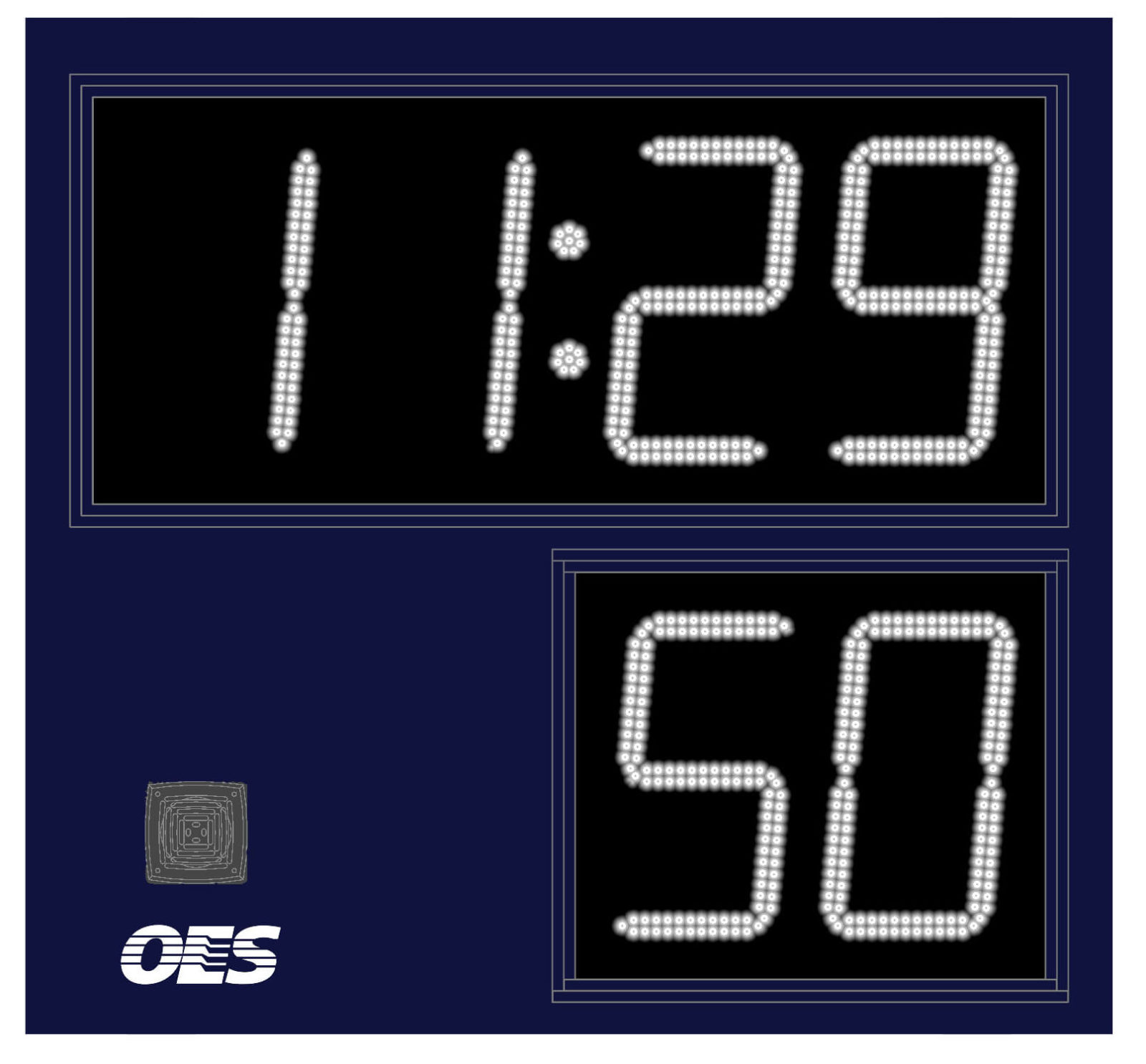 small blue scoreboard