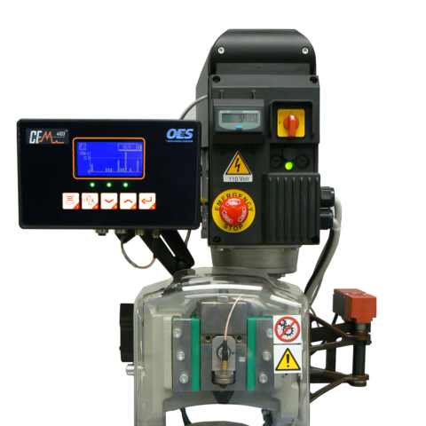 a crimp force monitor on a manufacturing machine