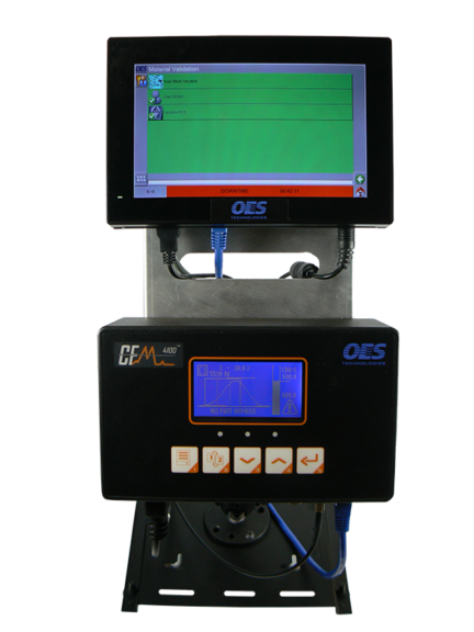 a crimp monitor on a manufactring machine
